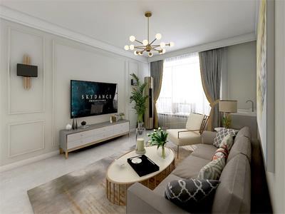 融泰城90㎡美式风格装修案例