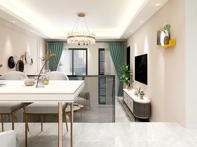 半岛豪庭156㎡现代轻奢风格装修案例