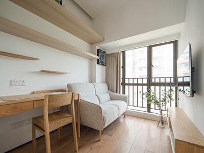 鸿坤理想城105㎡日式风格装修案例