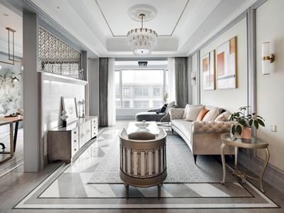 保利玫瑰湾160㎡简美风格装修案例