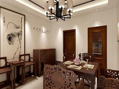 王顶堤故里112㎡新中式风格装修案例